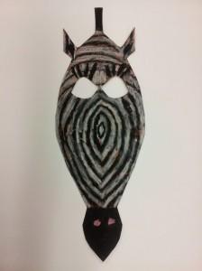 African Zebra Mask - 3rd Grade
