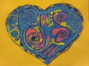 Picasso Hearts-Kindergarten