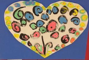 Picasso Hearts- Kindergarten